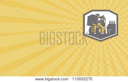 Business Card Forklift Truck Materials Handling Logistics Retro