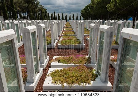 Military Cemetery In Turkey