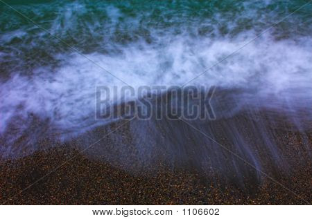 Blue Sea And Sand, Long Exposure