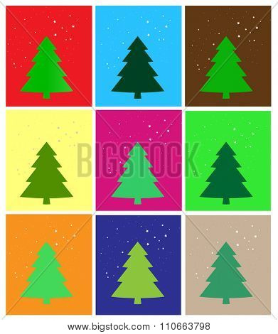 simple Christmas card, vector illustration.
