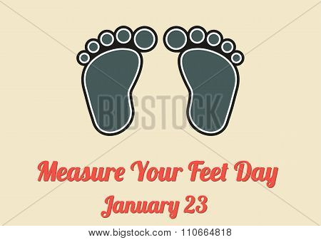 Poster For Measure Your Feet Day (january 23)