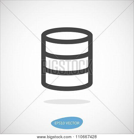 Database Icon - Isolated Vector Illustration