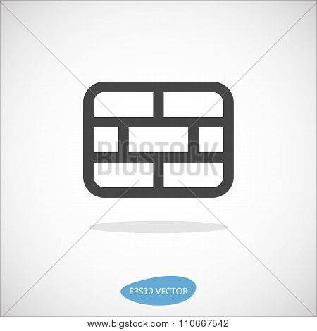 Firewall Icon - Isolated Vector Illustration