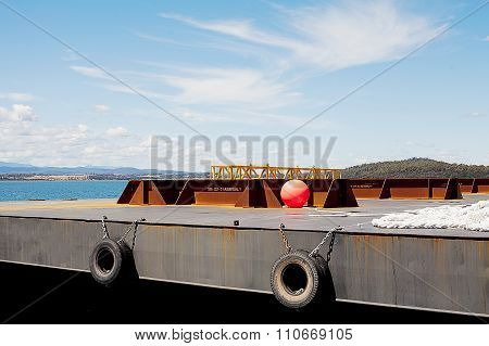 Barge In Port