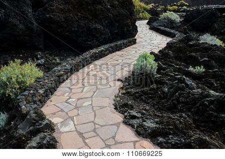 Red and Gray Paving Stones