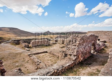 Abandoned Village Of Ancient People Of Perisa Around Historical Zoroastrian Fire Temple Takht-e Sole