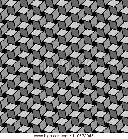 Seamless geometric texture with optical effects. Vector art.