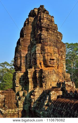Faces of Buddha in Bayon Temple, Angkor Wat