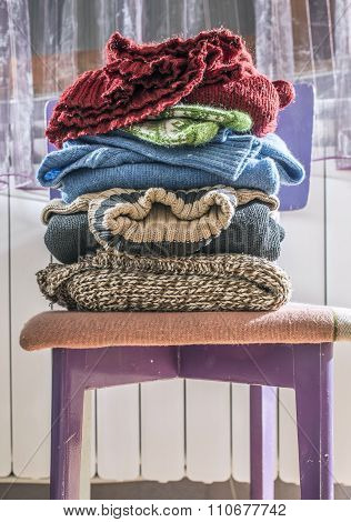 Winter Clothes Stacked