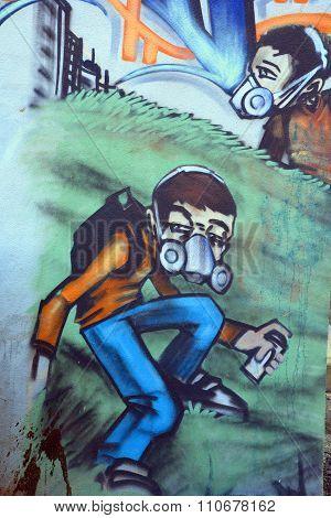 Street art tagger.