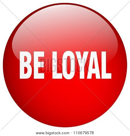 Be Loyal Red Round Gel Isolated Push Button