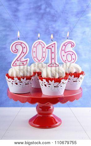 Happy New Year 2016 Cupcakes