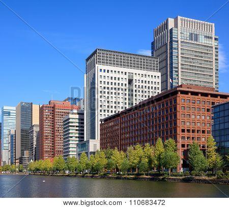 Buildings At Marunouchi Area In Tokyo, Japan