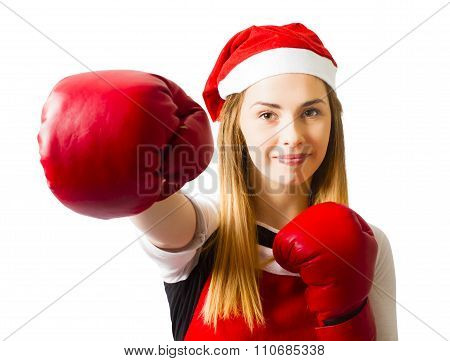 Fitness Holiday Christmas Girl. Boxing Day