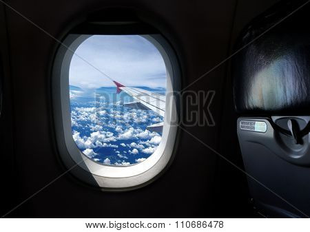 Airplane Window Seat With View