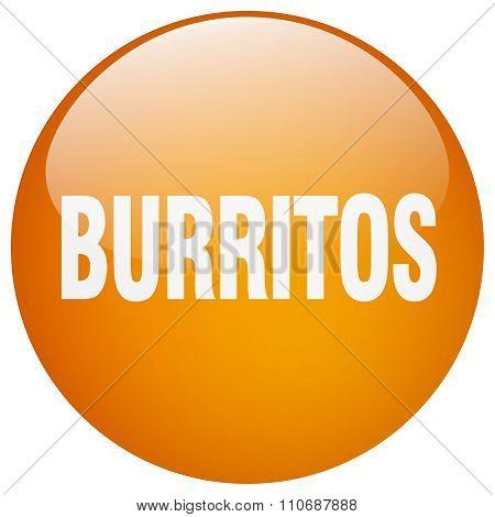 Burritos Orange Round Gel Isolated Push Button