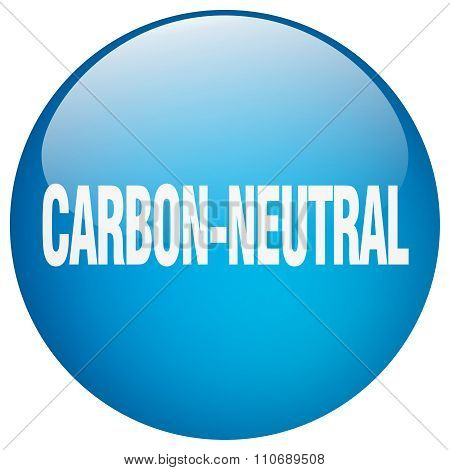 Carbon-neutral Blue Round Gel Isolated Push Button