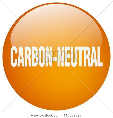 Carbon-neutral Orange Round Gel Isolated Push Button