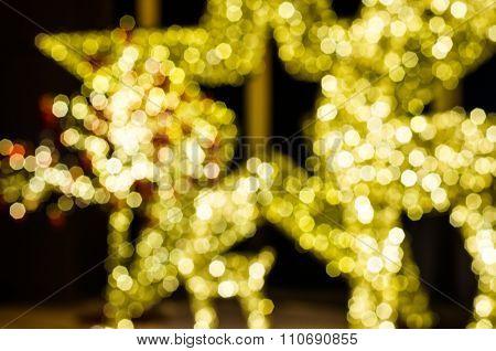 Blurred Bokeh Light Of Star In Night Time