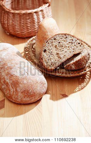 Freshness Bread On Wood