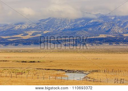 Beautiful Country Side View Near Highway 15, Utah