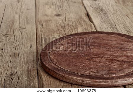 Kitchen Table Wooden With Round Board