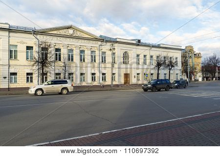 VLADIMIR, RUSSIA -05.11.2015. Public School Number One was built in 19th century