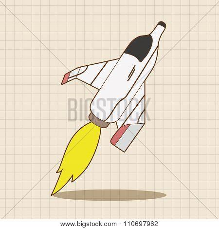 Spaceship Theme Elements Vector,eps