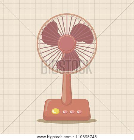 Home Appliances Theme Electric Fan Elements