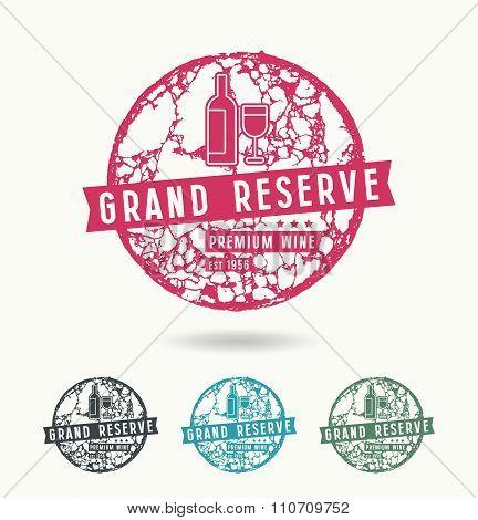Grand Reserve Wine Label