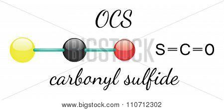 OCS carbonyl sulfide molecule