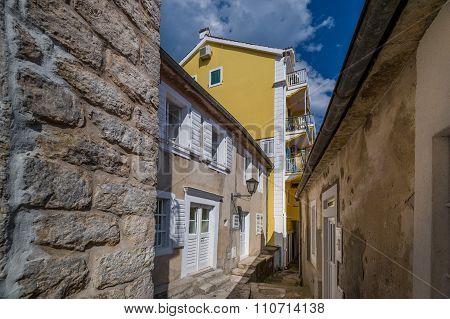 Narrow streets of Herceg Novi old town