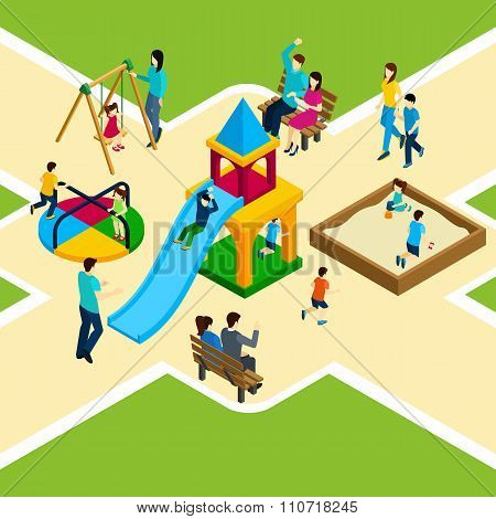 Isometric Kids Playground