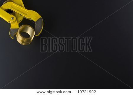 Wrench with brass nipple