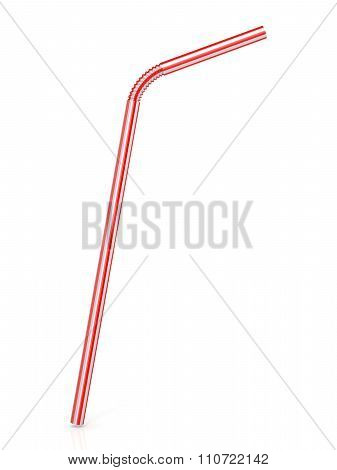 Drinking straw isolated on a white background