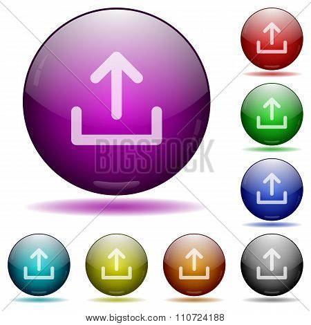 Upload Glass Sphere Buttons