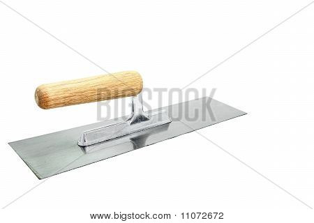 Isolated Of German Style Lute Trowel Over White