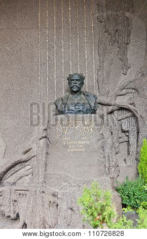 Composer Antonin Dvorak Tomb In Vysehrad Cemetery, Prague