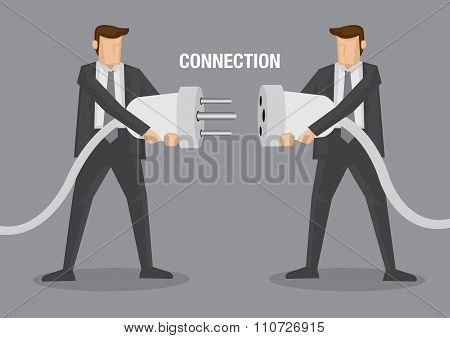 Business Connection Vector Illustration