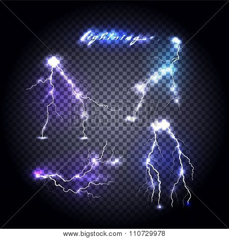 Set of Bright Lightning Design