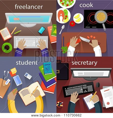 Student Freelancer, Cook and Secretary
