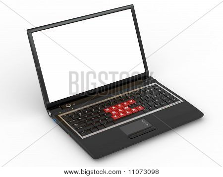 Happy New Year Laptop Keyboard