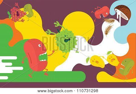 fruit chasing
