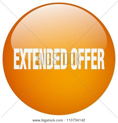 Extended Offer Orange Round Gel Isolated Push Button