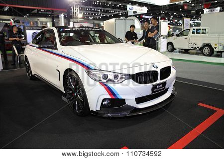 Bangkok - December 1: Bmw 420I Grann Coupe Car On Display At The Motor Expo 2015 On December 1, 2015