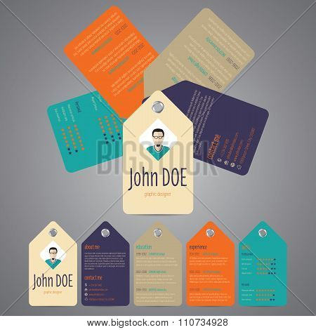 Multiple Tags Cv Resume Template
