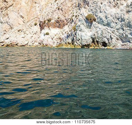 From The Boat Sea And Sky In Mediterranean Sea Santorini Greece Europe