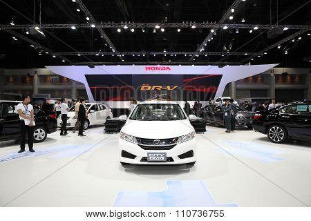Bangkok - December 1: Honda City Cng Car On Display At The Motor Expo 2015 On December 1, 2015 In Ba