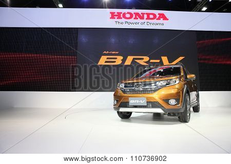 Bangkok - December 1: Honda Br-v Car On Display At The Motor Expo 2015 On December 1, 2015 In Bangko