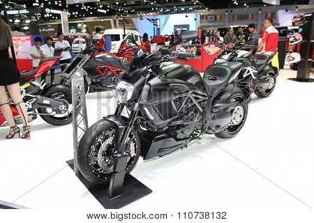 Bangkok - December 1: Ducati Diavel Carbon Motorcycle On Display At The Motor Expo 2015 On December